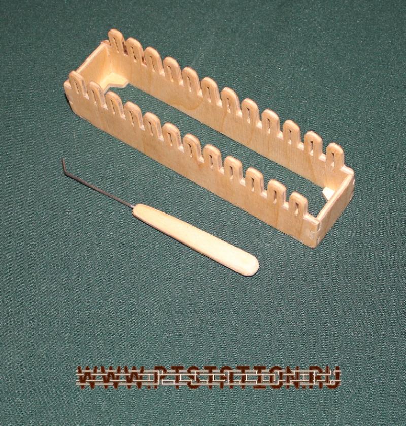 приспособление для вязание сделанное своими руками из фанеры лобзиком